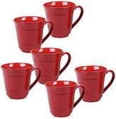 One Kings Lane Set of 6 Misha Mugs - Red