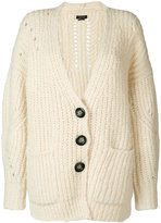 Isabel Marant long knitted cardigan - women - Polyester/Wool/Alpaca - 34