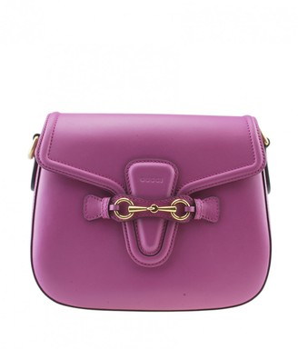 Gucci Lady Web Purple Leather Handbags