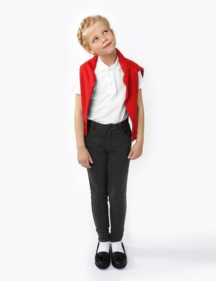 Marks and Spencer Girls' Skinny Leg Regular Fit School Trousers
