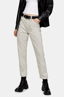 Topshop Womens Mouse Editor Straight Jeans - Light Beige