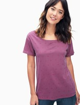 Splendid Polka Dot Double Scoop Tee