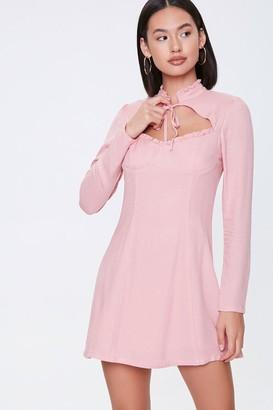 Forever 21 Bustier Cutout Mini Dress