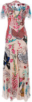 Temperley London Woodland long dress - women - Silk/Nylon/Spandex/Elastane - 8