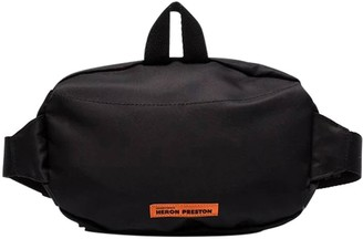 Heron Preston CTNMB Logo Belt Bag BLACK/WHITE