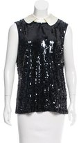 Tory Burch Sleeveless Sequined Top
