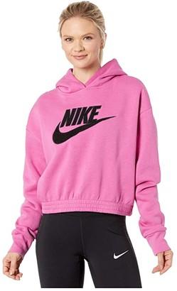 Nike NSW Icon Clash Fleece Hoodie (Black) Women's Sweatshirt