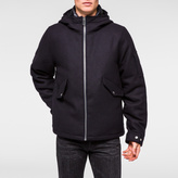 Paul Smith Men's Navy Wool-Cashmere Down-Filled Hooded Jacket