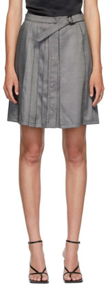 Situationist SSENSE Exclusive Grey Wool Belted Pleats Miniskirt