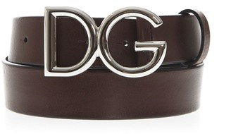 Dolce & Gabbana Dark Brown Leather Belt