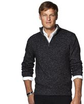 Chaps Big & Tall Classic-Fit Marled Quarter-Zip Pullover