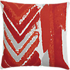 CB2 Dart Pillow With Feather-Down Insert.
