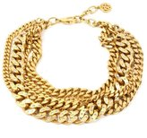 Ben-Amun Gold Chain and Crystal Studded Necklace