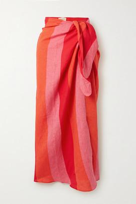 Mara Hoffman Izzi Striped Linen Pareo - Red