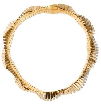 Bottega Veneta Crystal-embellished Twisted Gold-plated Necklace - Gold