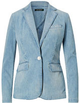 Ralph Lauren Petite Single-Button Denim Blazer
