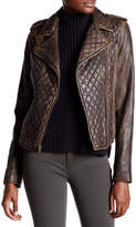 Levi's Genuine Leather Quilted Motorcycle Jacket
