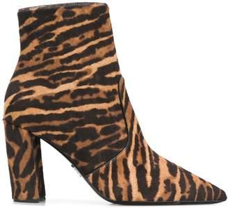 Prada leopard pattern ankle boots