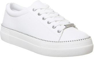 Office Free Flatform Trainers White Silver Stud Rand