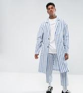 Reclaimed Vintage Inspired Duster Jacket In Stripe