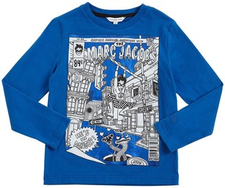 Little Marc Jacobs Superhero Print Cotton T-shirt