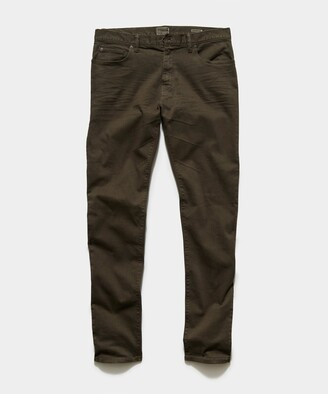 Todd Snyder Straight Fit 5-Pocket Chino In Surplus Olive