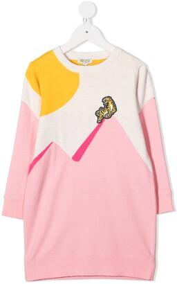 Kenzo Kids Colour-Block Knit Dress