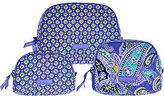 Vera Bradley As Is Signature_Print Set of 3 Cosmetic Cases