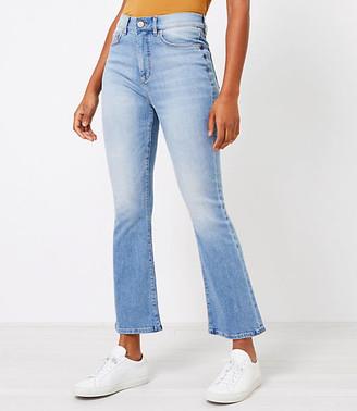 LOFT The High Waist Kick Crop Jean in Classic Indigo Wash