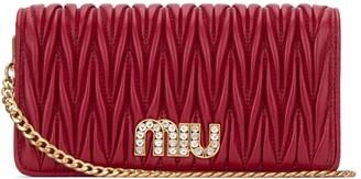 Miu Miu Matelasse Chain Clutch Bag