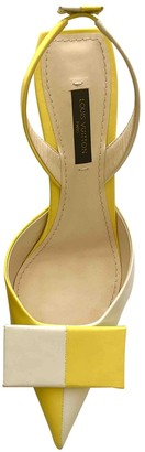 Louis Vuitton Yellow Leather Heels