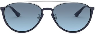 Tory Burch Aviator-Shape Sunglasses