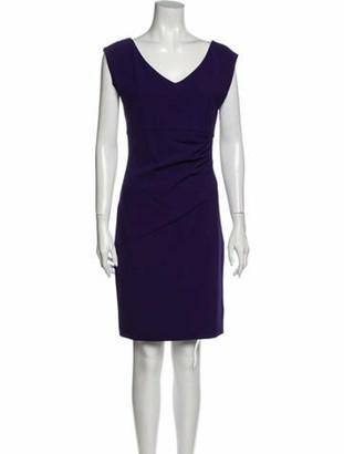 Diane von Furstenberg V-Neck Knee-Length Dress w/ Tags Purple