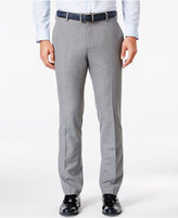 Kenneth Cole Reaction Men's Slim-Fit Medium Gray Windowpane Plaid Dress Pants
