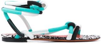 Missoni Strappy Flat Sandals