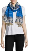 Yigal Azrouel Cashmere Printed Scarf