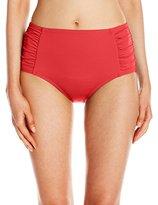 Jantzen Women's Solid Hi Waist Bikini Bottom