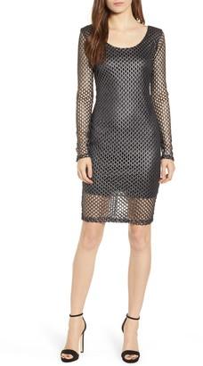 Sentimental NY Long Sleeve Mesh Body-Con Dress