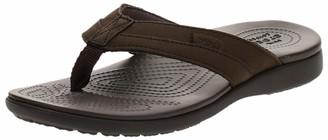 Crocs Santa Cruz Leather Flip M Mens Beach & Pool