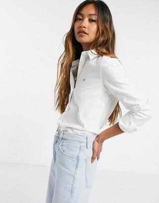 Gant stretch oxford shirt in white