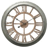 Infinity Instruments Ole Fashion Wall Clock - Silver