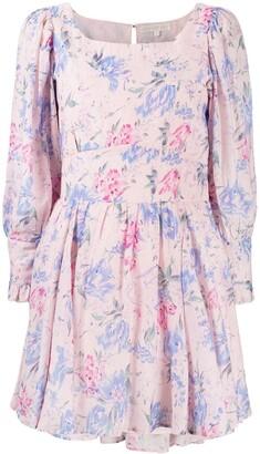 LoveShackFancy Empire Line Floral-Print Dress