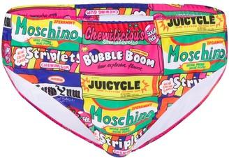 Moschino Chewing Gum Print Swimming Trunks
