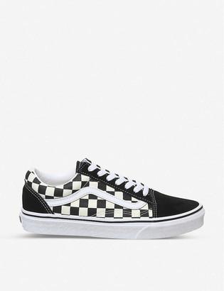 White Vans Black Stripe Mens Shoes