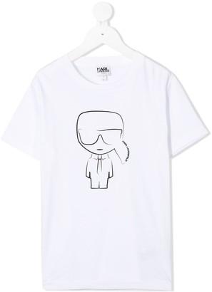 Karl Lagerfeld Paris Ikonik logo cotton T-shirt