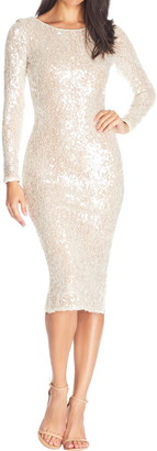 Dress the Population Susanna Sequin Long Sleeve Body-Con Dress
