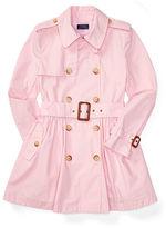 Ralph Lauren 7-16 Cotton Poplin Trench Coat