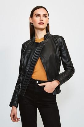 Karen Millen Leather Racer Biker Jacket
