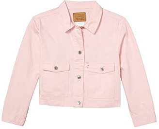 Levi's(r) Kids Lightweight Denim Trucker Jacket (Big Kids) (Rose Shadow) Girl's Jacket