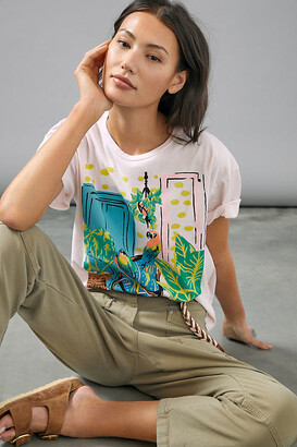 Parrot Paradise Graphic Tee By Back When in Pink Size XS